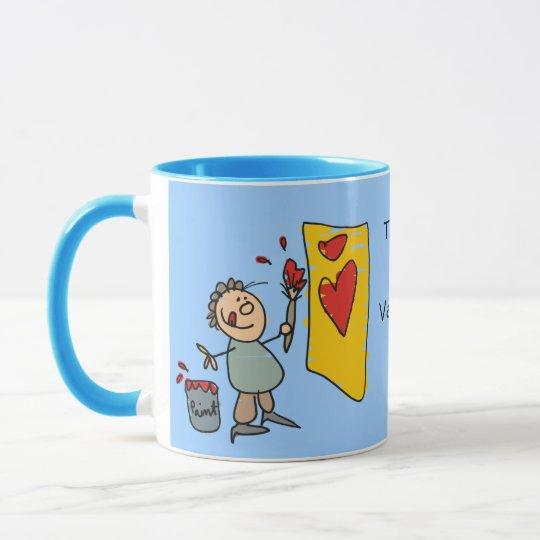 CUTE VALENTINE DESIGN CUP TEMPLATE