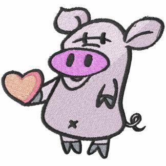 Cute Valentine Heart Pig Pocket Size