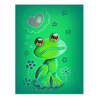 Cute Valentine Love Frog Postcard