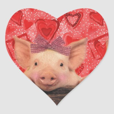 This Little Piggy Loves You Classic Round Sticker