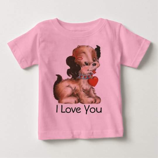 Cute Valentine Puppy T-shirt for Baby