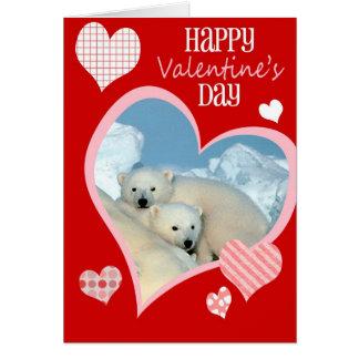 Cute Valentine s Day Card Polar Bears