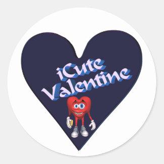 Cute Valentine T-shirts and Gifts Round Sticker