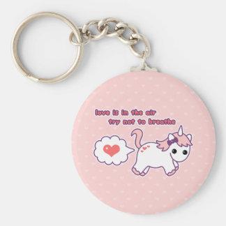Cute Valentine Unicorn Keychain