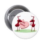 Cute Valentines' Day Ants 2 Inch Round Button