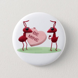 Cute Valentines' Day Ants Button