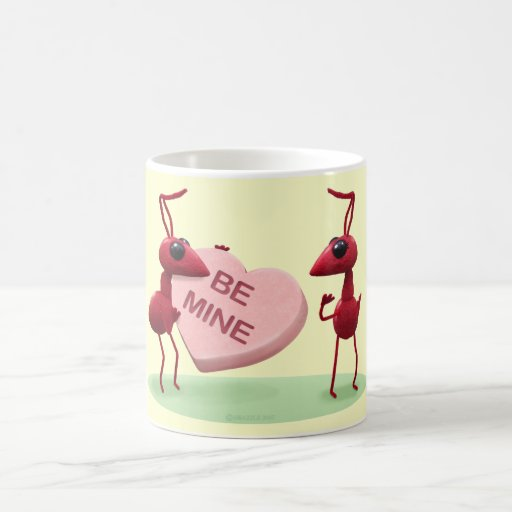 Cute Valentines' Day Ants Classic White Coffee Mug