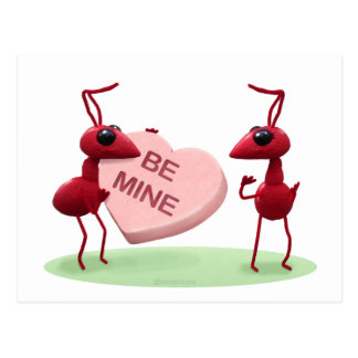 Cute Valentines' Day Ants Postcard