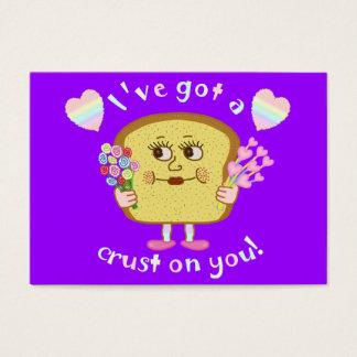Cute Valentine's Day Bread Pun Kids Classroom Business Card