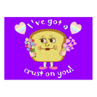 Cute Valentine's Day Bread Pun Kids Classroom Large Business Card