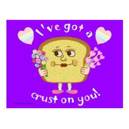 Cute Valentine's Day Bread Pun Kids Classroom Postcard
