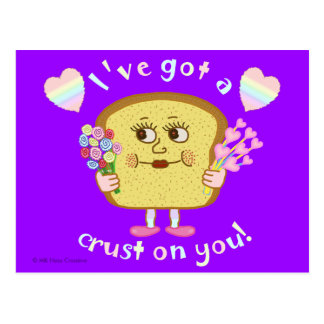 Cute Valentine's Day Bread Pun Kids Classroom Postcard
