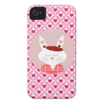 Cute Valentine's Day Bunny Pink Red Hearts Gifts iPhone 4 Cover