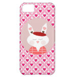 Cute Valentine's Day Bunny Pink Red Hearts Gifts iPhone 5C Cases