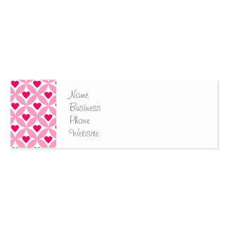 Cute Valentine's Day Bunny Pink Red Hearts Gifts Mini Business Card