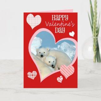 Cute Valentine's Day Card, Polar Bears card