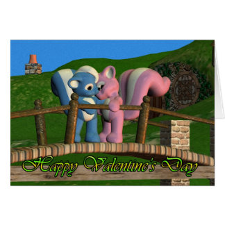 Cute Valentine's Day Card with Love Skunks