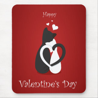 Cute Valentine's Day Cats Love Mouse Pad