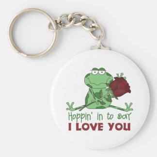 Cute Valentine's Day Gift Basic Round Button Keychain