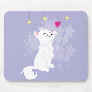 Cute Valentines Day Kitty Mouse Pad