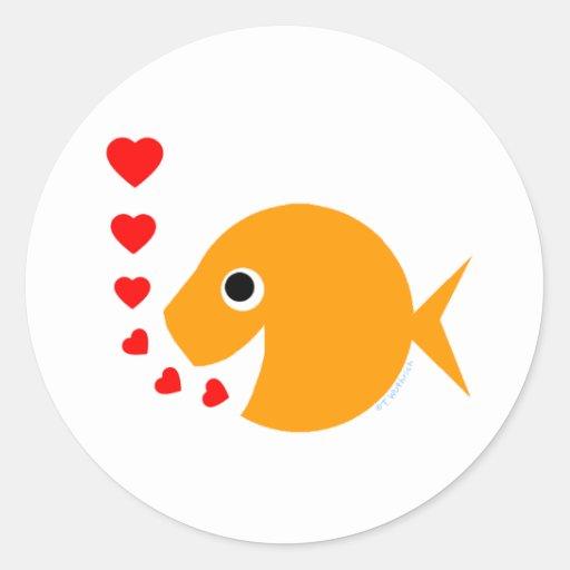Cute Valentine's Day Love Goldfish Sticker