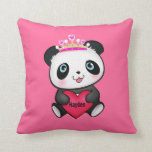 Cute Valentine's Day Panda Gift Pillow for Girls