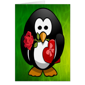 Cute Valentine's Day Penguin Funny Cartoon Card