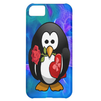 Cute Valentine's Day Penguin Funny Cartoon Cover For iPhone 5C