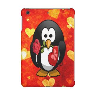 Cute Valentine's Day Penguin & Love Hearts Cartoon iPad Mini Retina Case