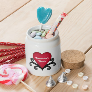 Cute Valentines Day red heart Candy Dishes