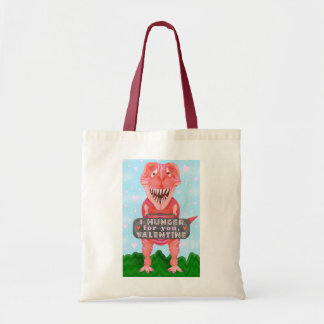 Cute Valentine's Day T Rex Dinosaur Hunger for You Tote Bag
