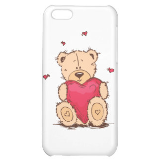 Cute Valentine's Day Teddy Bear Case For iPhone 5C