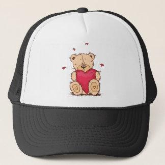 Cute Valentine's Day Teddy Bear Trucker Hat