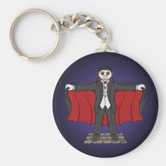 Cute Vampire Basic Round Button Keychain