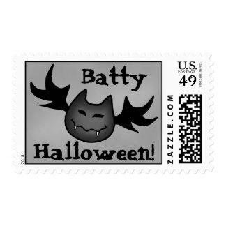 Cute vampire bat Batty Halloween funny Postage Stamps
