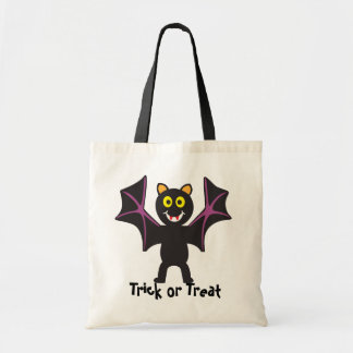 Cute Vampire Bat Trick or Treat Canvas Bags
