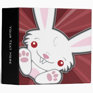Cute Vampire Bunny Rabbit (White) Binder