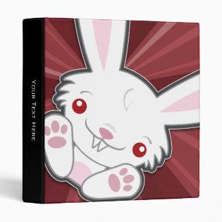 Cute Vampire Bunny Rabbit (White) Kawaii 3 Ring Binder