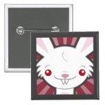 Cute Vampire Bunny Rabbit (White) - Kawaii Button