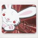 Cute Vampire Bunny Rabbit (White) - Kawaii mousepad