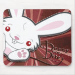 Cute Vampire Bunny Rabbit (White) - Kawaii Mouse Pads