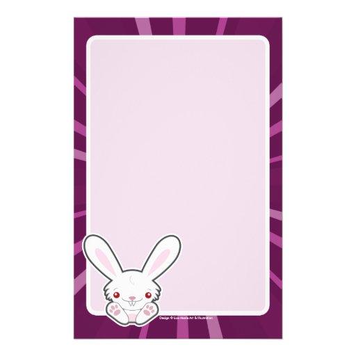Cute Vampire Bunny Rabbit (White) - Kawaii Stationery Design