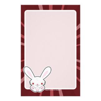 Cute Vampire Bunny Rabbit White - Kawaii Stationery Design