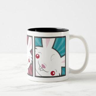 Cute Vampire Bunny Rabbit (White) Kawaii Two-Tone Coffee Mug