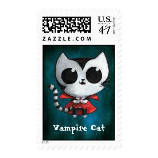 Cute Vampire Cat Postage