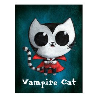 Cute Vampire Cat Postcard