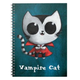 Cute Vampire Cat Spiral Notebook