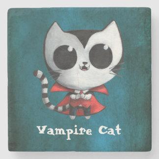 Cute Vampire Cat Stone Coaster