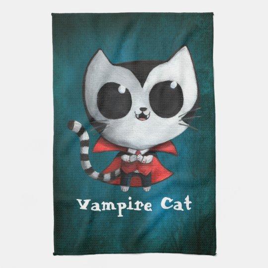 Cute Vampire Cat Towel