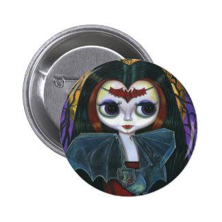Cute Vampire Doll Button